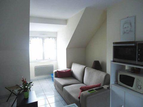 FLERS - quartier de la gare - appartement de 40 m² composé d'une pièce principale avec cuisine ouverte, chambre, salle de bains ! loyer modéré !