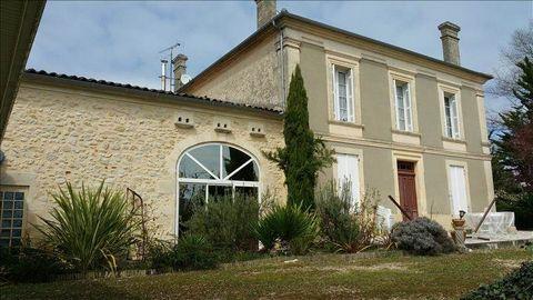 Ensemble immobilier comprenant une maison de maître et une partie plus récente pour une surface d'environ 565m² sur un terrain de 2840m². Piscine avec vue sur la vallée de la Garonne. Possibilité de faire un ensemble de gîtes.